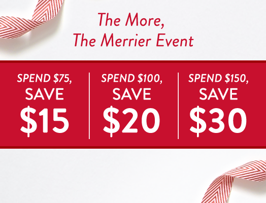 The more you spend, the more you save!