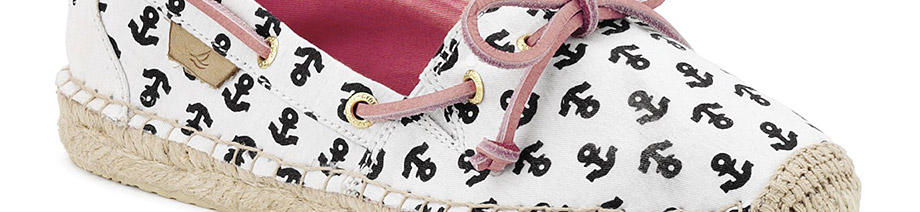 Find the popular prints for the season with Sperry Top-Sider's anchor shoes.
