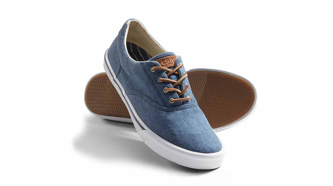 Sperry Striper II CVO Washed Grey, Baskets Homme, Gris (Grey 80), 40 EUSperry Top-Sider