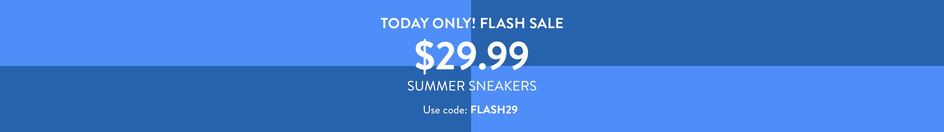 Variations of blue squares. Flash Sneaker Sale $29