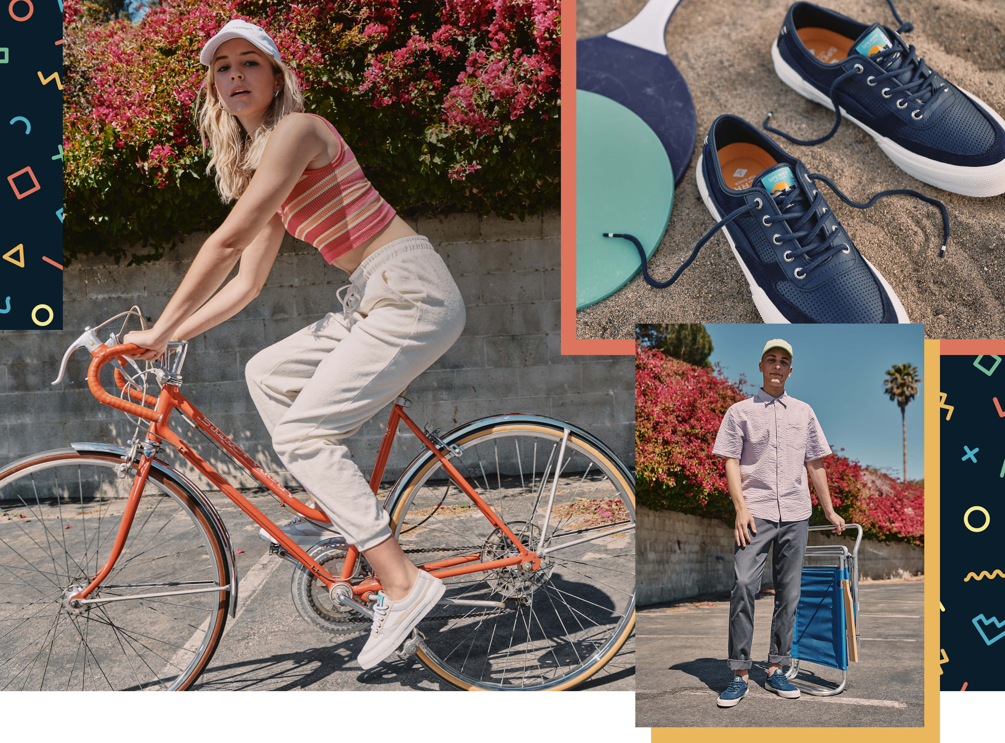 Collage of people wearing Soletide shoes.